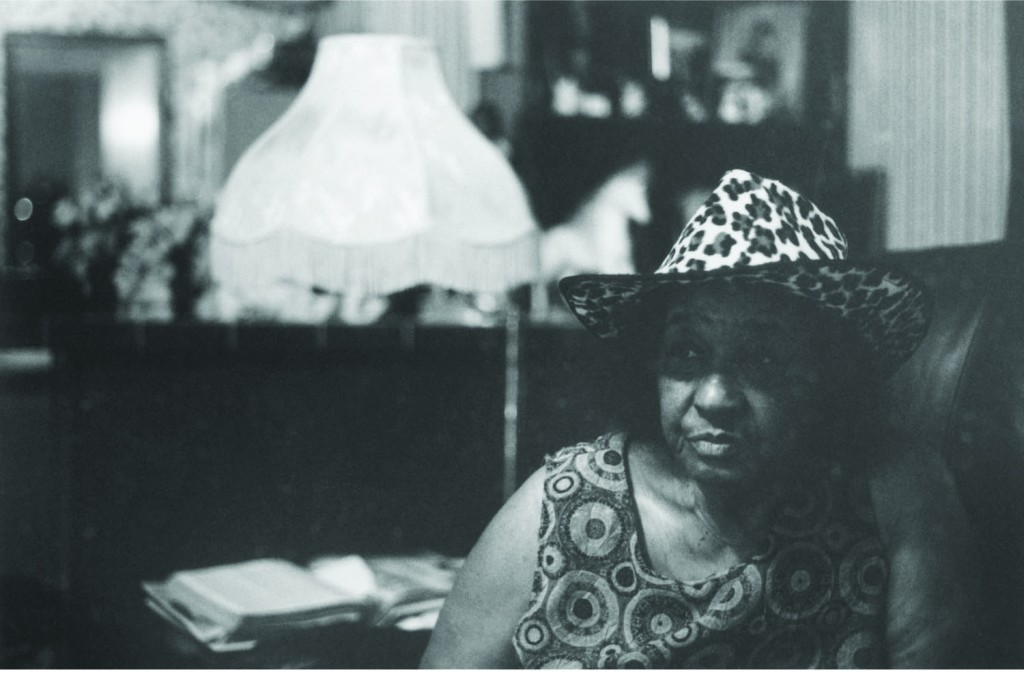 Helen Kent in her living room
