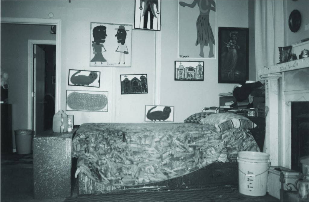 one of the bedrooms in Mose Toliver's home