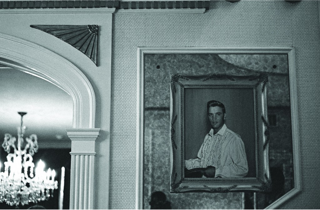 a framed image of Elvi Presley in Mrs. Kent's house in Memphis, TN